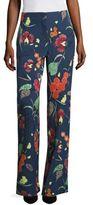 Diane von Furstenberg Wide legged Silk Blend Pants