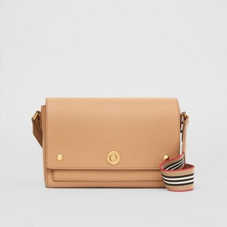 Burberry Grainy Leather Note Crossbody Bag