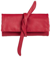 NEW Redd Leather Nappa Jewellery Roll Red