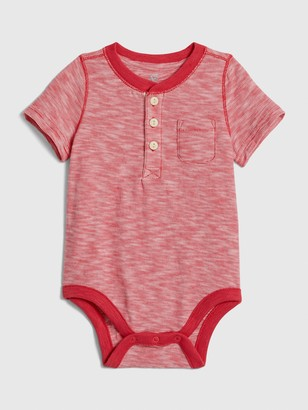 Gap Baby Short Sleeve Henley Bodysuit
