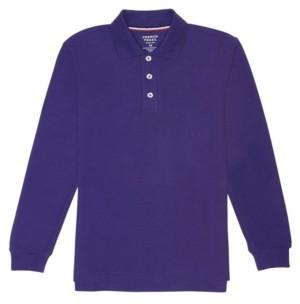 French Toast Husky Boys Long Sleeve Pique Polo Shirt