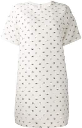 Valentino logo print shift dress