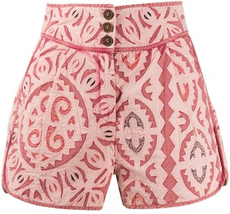 Ulla Johnson mola-effect high-rise shorts