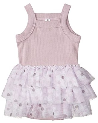 HUXBABY Floral Summer Ballet One-Piece (Infant) (Lilac) Girl's Jumpsuit & Rompers One Piece