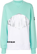House of Holland metallic detail colour block sweatshirt
