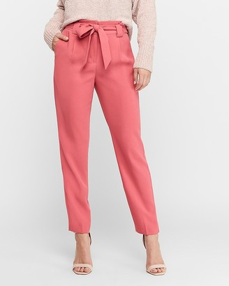Express High Waisted Paperbag Ankle Pant