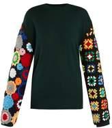 J.W.Anderson Crochet-sleeved wool sweater