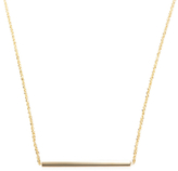 Candela 14K Yellow Gold Horizontal Bar Necklace