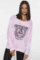 Chaser LA Liberty Bell Reverse Shoulder Long Sleeve Raglan in Tie-Dye