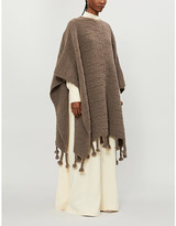The Row Tassel-trimmed wool-blend poncho