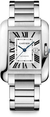 Cartier Tank Anglaise Automatic Large Stainless Steel Bracelet Watch