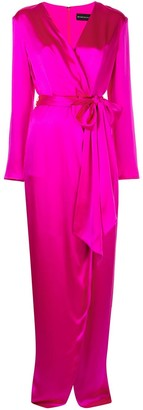 Brandon Maxwell long sleeved wrap dress