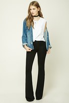 Forever 21 FOREVER 21+ Stretch-Knit Flared Pants