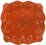 Home Essentials Fancy Scroll Square Salad Plate - Terracotta - 8""