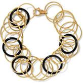 Buccellati Hawaii 18-karat Gold Onyx Bracelet - S