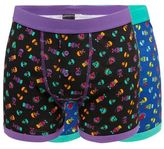 Red Herring Pack Of Two Purple Skull Print Trunks