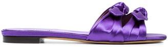 Tabitha Simmons Purple Cleo Satin sandals