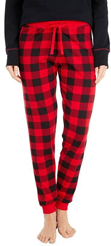 Flannel Pajamas Plus Size 2X Women/'s 100/% Cotton Red//Black Checker Plaid Buffalo