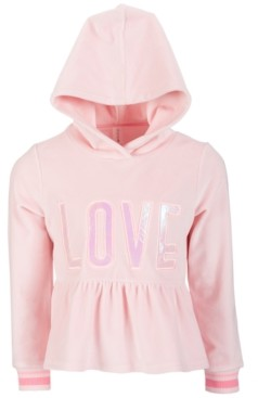 Ideology Little Girls Velour Peplum Hoodie, Created for Macy's