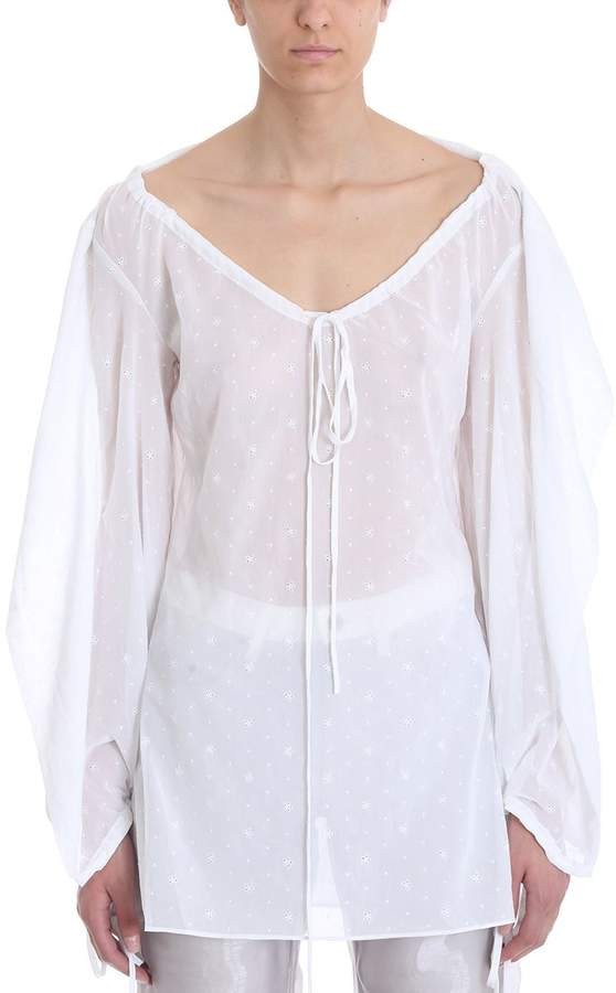 Y/Project Drawstring Neck Blouse