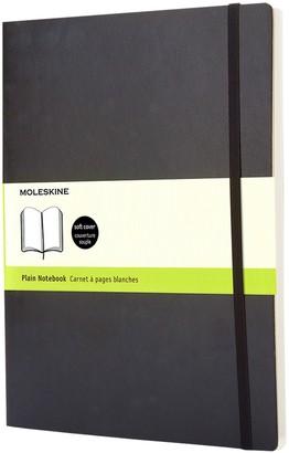Moleskine Extra Large Soft Cover Plain Notebook, Black