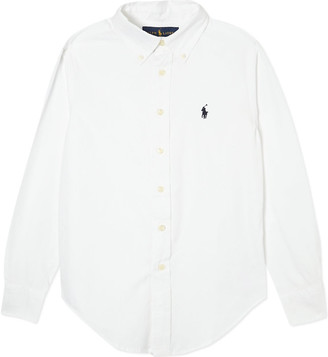 Ralph Lauren Custom fit long-sleeve shirt 8-16 years, Size: 8 years, White