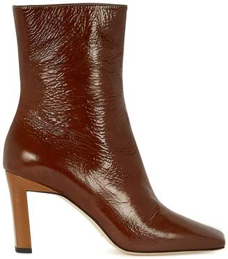 Wandler Isa 85 Panelled Leather Ankle Boots