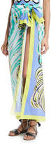 Emilio Pucci Baia-Printed Cotton Pareo Coverup