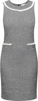 Rumour London Emilia Checked Cotton Tweed Dress with Fringed Neckline Detail