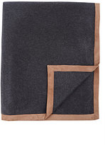 Barneys New York Suede-Trimmed Cashmere Throw