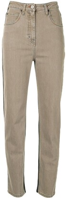 M Missoni High-Rise Two-Tone Skinny Jeans