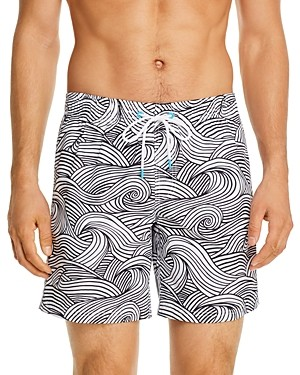Sundek Wave Print Swim Trunks