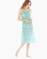 Soma Intimates Cotton Midi Nightgown Seafoam