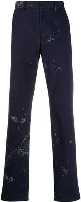Maison Margiela Navy Paint Splatter Pants