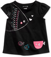 First Impressions Fish-Print Cotton T-Shirt, Baby Girls (0-24 months), Created for Macy's
