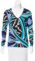 Emilio Pucci Printed Cashmere & Wool-Blend Sweater
