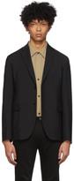 Acne Studios Black Wool Mohair Suit Blazer