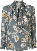 TOMORROWLAND floral-print pussy boy blouse