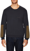 Lot 78 2-Tone Zip Crewneck Sweater