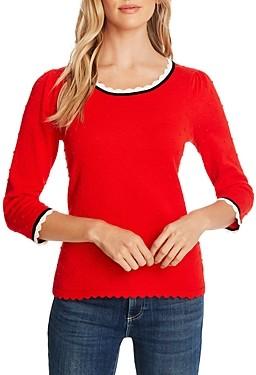 CeCe Pompom Pullover Sweater