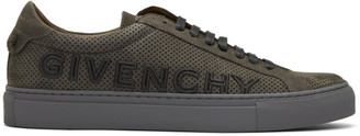 Givenchy Grey Suede Urban Street Sneakers