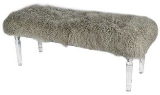 A&B Home Mongolian Upholstered Bench