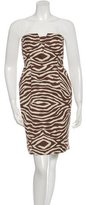 Kate Spade Strapless Zebra Print Dress