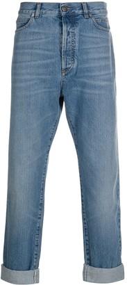 Balmain Turn Up Hem Straight Jeans