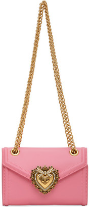Dolce & Gabbana Pink Mini Devotion Chain Wallet Bag