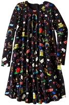 Dolce & Gabbana Back to School Printed Long Sleeve Dress (Big Kids)