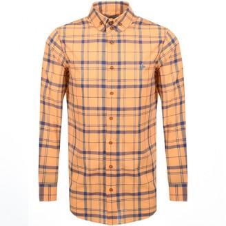 Vivienne Westwood Tartan Krall Shirt Orange