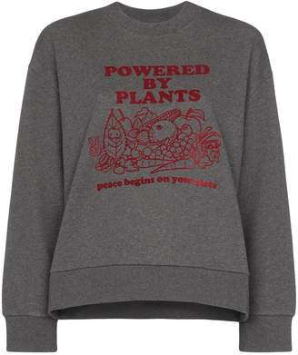 Stella McCartney Powered By Plants print sweatshirt