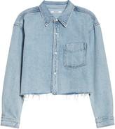 GRLFRND Christy Cutoff Crop Denim Shirt