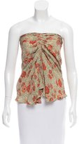 Etoile Isabel Marant Draped Floral Print Top